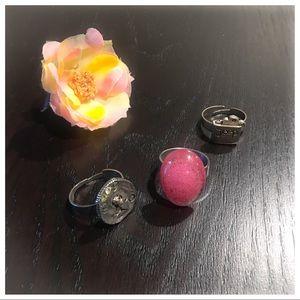 New🍒🍒Fashion Adjustable Rings Bundle